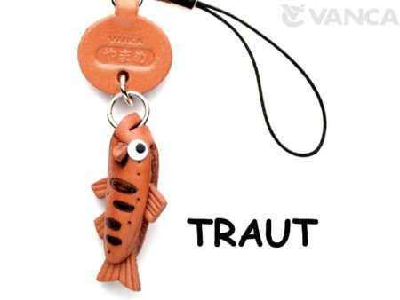 TROUT LEATHER CELLULARPHONE CHARM FISH