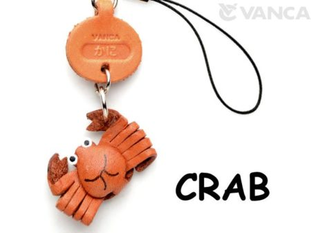 CRAB LEATHER CELLULARPHONE CHARM FISH