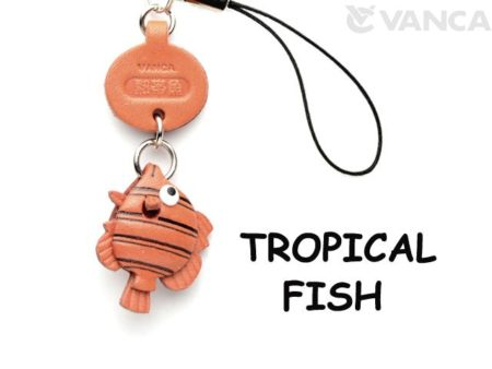 TROPICAL FISH LEATHER CELLULARPHONE CHARM FISH