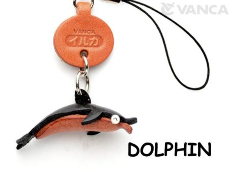 DOLPHIN LEATHER CELLULARPHONE CHARM FISH