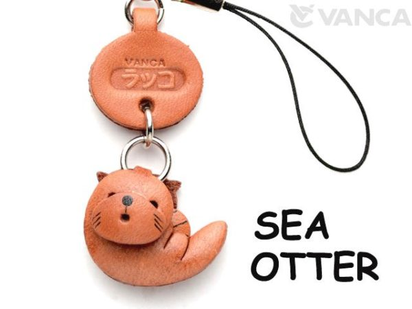 SEA-OTTER LEATHER CELLULARPHONE CHARM FISH