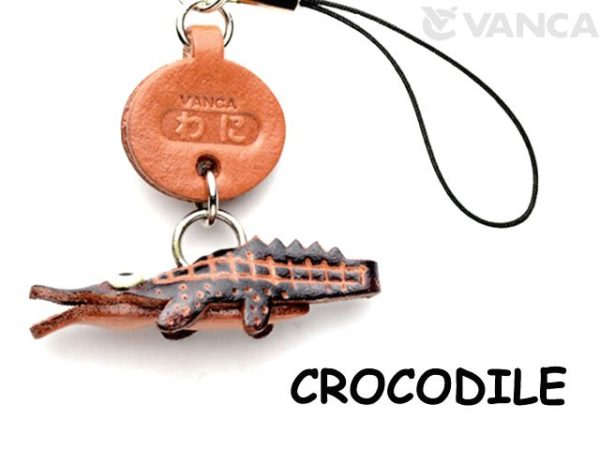 CROCODILE LEATHER CELLULARPHONE CHARM FISH