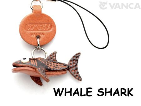 WHALE SHARK LEATHER CELLULARPHONE CHARM FISH