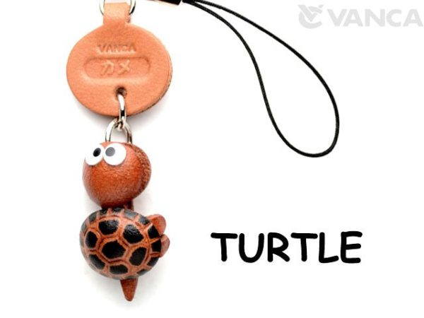 TURTLE LEATHER CELLULARPHONE CHARM FISH