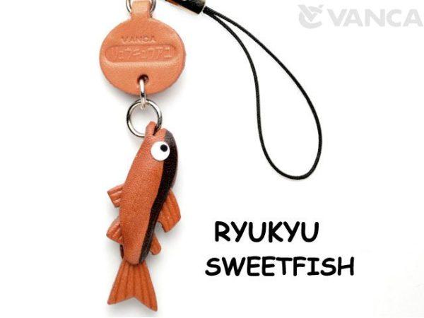 RYUKYU SWEETFISH LEATHER CELLULARPHONE CHARM