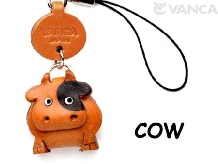 COW LEATHER CELLULARPHONE CHARM ANIMAL