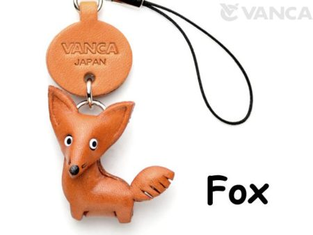 FOX LEATHER CELLULARPHONE CHARM ANIMAL
