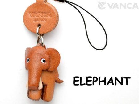 ELEPHANT LEATHER CELLULARPHONE CHARM ANIMAL