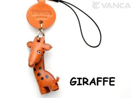 GIRAFFE LEATHER CELLULARPHONE CHARM ANIMAL