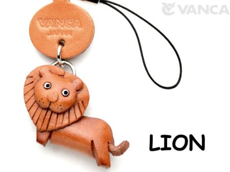LION LEATHER CELLULARPHONE CHARM ANIMAL
