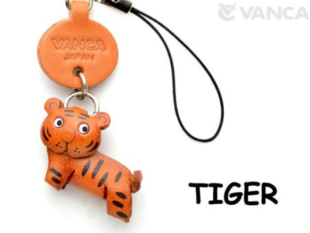 TIGER LEATHER CELLULARPHONE CHARM ANIMAL