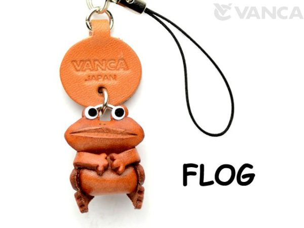FROG LEATHER CELLULARPHONE CHARM ANIMAL