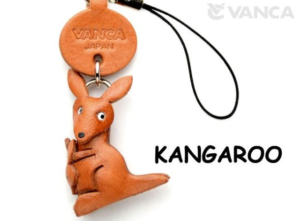 KANGAROO LEATHER CELLULARPHONE CHARM ANIMAL