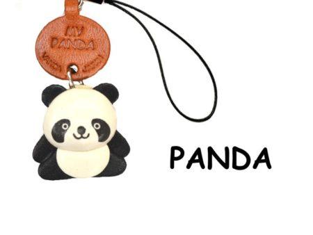PANDA LEATHER CELLULARPHONE CHARM ANIMAL