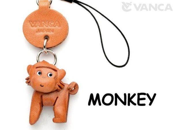 MONKEY LEATHER CELLULARPHONE CHARM ANIMAL