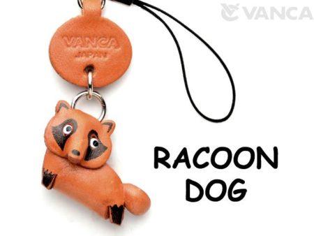 RACCOON DOG LEATHER CELLULARPHONE CHARM ANIMAL