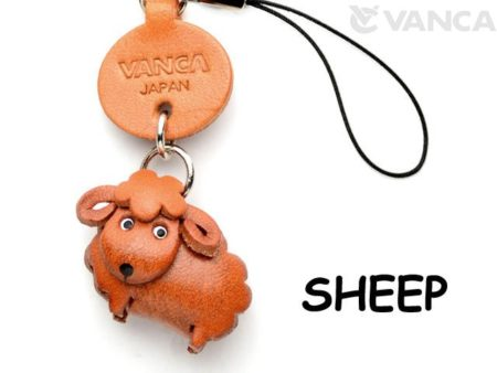 SHEEP LEATHER CELLULARPHONE CHARM ANIMAL