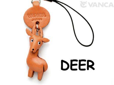 DEER LEATHER CELLULARPHONE CHARM ANIMAL