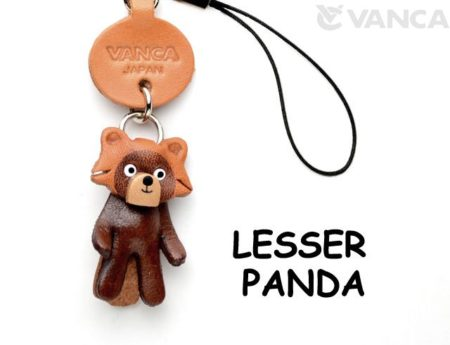 LESSER PANDA LEATHER CELLULARPHONE CHARM ANIMAL