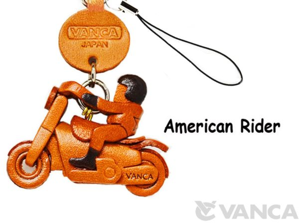 AMERICAN RIDER LEATHER CELLULARPHONE CHARM GOODS