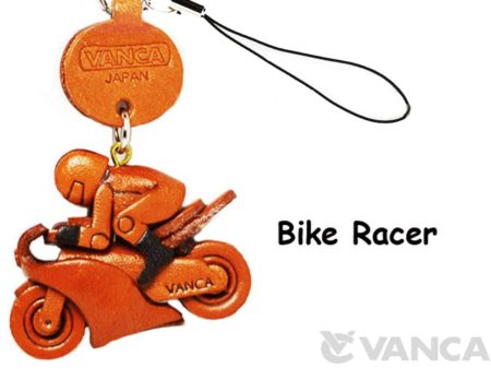 BIKE RACER LEATHER CELLULARPHONE CHARM GOODS