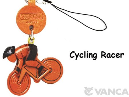 CYCLE RACER LEATHER CELLULARPHONE CHARM GOODS