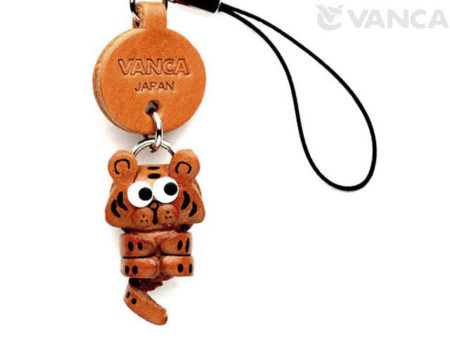 TIGER LEATHER CELLULARPHONE CHARM ZODIAC MASCOT