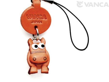 HORSE LEATHER CELLULARPHONE CHARM ZODIAC MASCOT