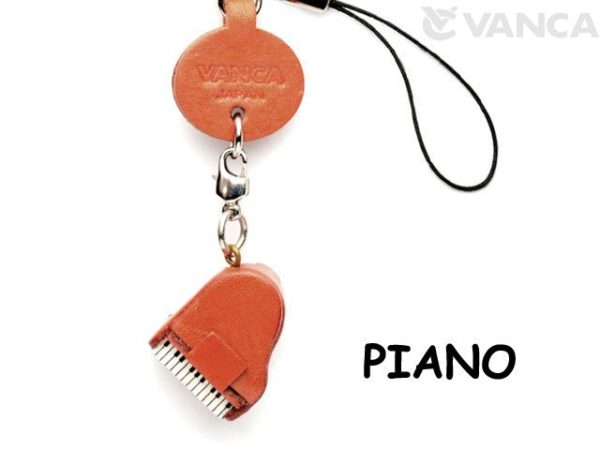 PIANO LEATHER CELLULARPHONE CHARM GOODS