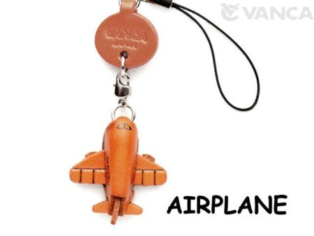 AIRPLANE LEATHER CELLULARPHONE CHARM GOODS