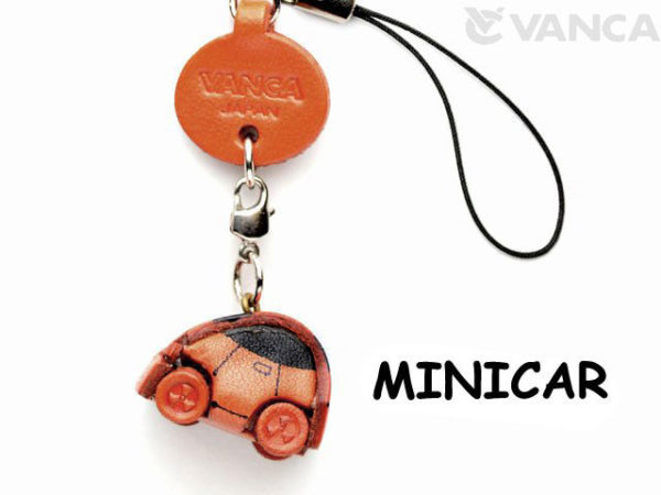 MINICAR LEATHER CELLULARPHONE CHARM GOODS