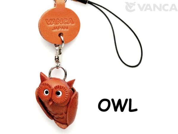 OWL LEATHER CELLULARPHONE CHARM GOODS