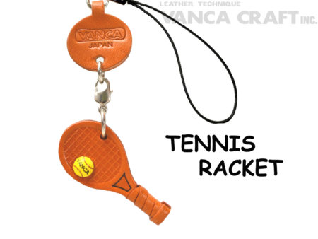 TENNIS RACKET LEATHER CELLULARPHONE CHARM GOODS