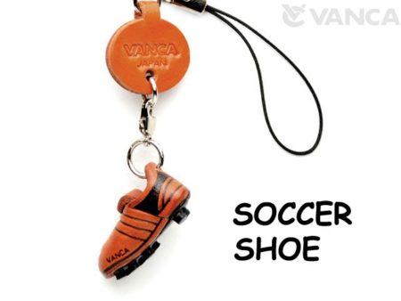 SOCCER SHOE LEATHER CELLULARPHONE CHARM GOODS