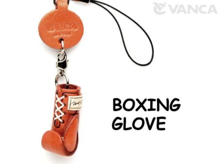 BOXING GLOBE LEATHER CELLULARPHONE CHARM GOODS