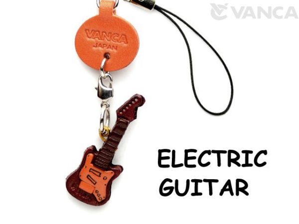 ELECTRIC GUITAR LEATHER CELLULARPHONE CHARM