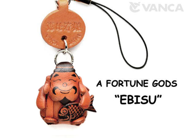 EBISU(GOD OF OCEAN) LEATHER CELLULARPHONE CHARM