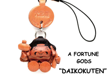 DIKOKU(GOD OF WELTH) LEATHER CELLULARPHONE CHARM