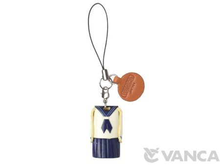 UNIFORM GIRLS SAILOR SUIT LEATHER GOODS PHONE CHARM
