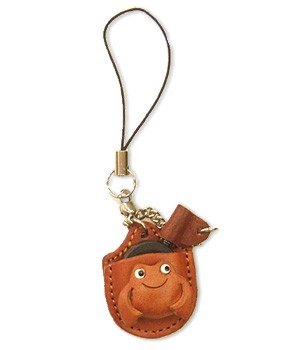 FROG LEATHER CELLULARPHONE CHARM MAGNIFYING GLASS