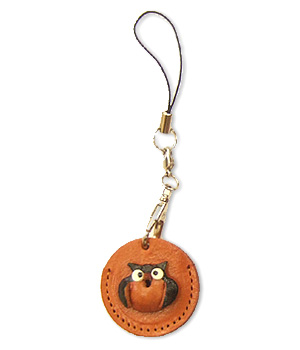 OWL LEATHER CELLULARPHONE CHARM COIN CASES