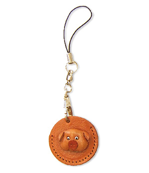 PIG LEATHER CELLULARPHONE CHARM COIN CASES