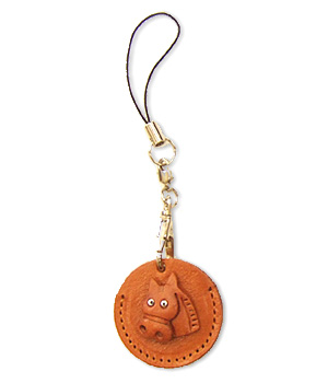 HORSE LEATHER CELLULARPHONE CHARM COIN CASES