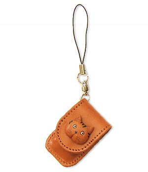 CAT LEATHER CELLULARPHONE CHARM MEMO SET