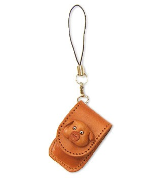 PIG LEATHER CELLULARPHONE CHARM MEMO SET