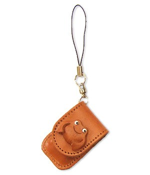 FROG LEATHER CELLULARPHONE CHARM MEMO SET