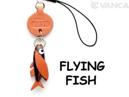 FLYING FISH JAPANESE LEATHER CELLULARPHONE CHARM FISH
