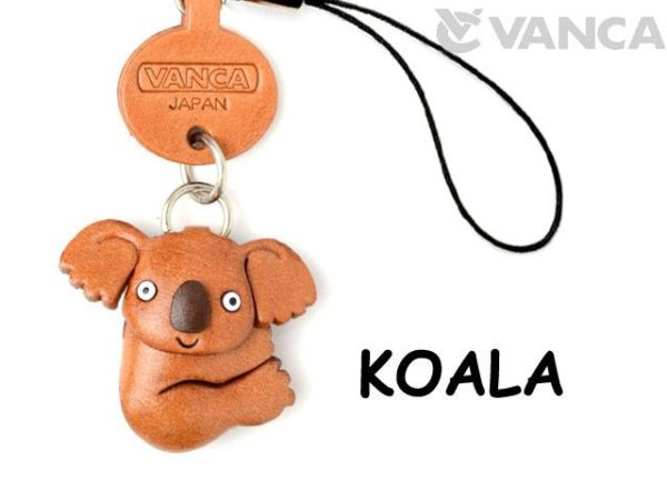 KOALA LEATHER CELLULARPHONE CHARM