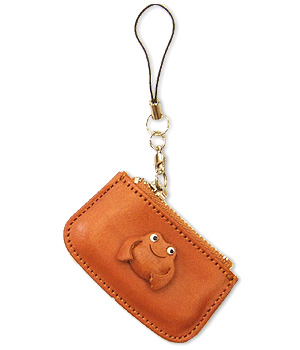 FROG LEATHER CELLULARPHONE CHARM CHANGE PURSE