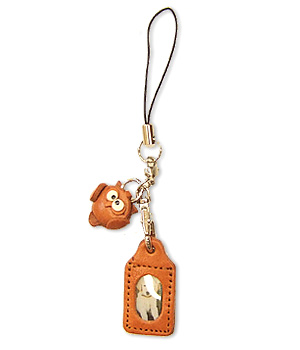 OWL LEATHER CELLULARPHONE CHARM PICTURE FRAME SQUARE
